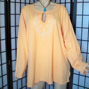 Nwt +$29 AVENUE 30W-32W  Stretchy Orange Top Tunic